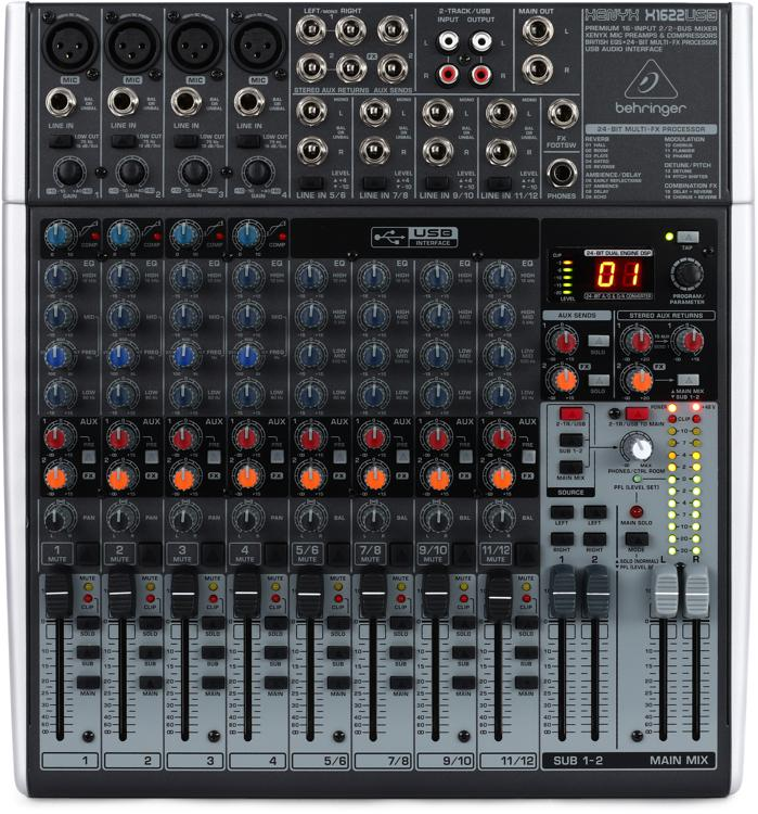 Behringer Xenyx X1622USB Mixer and Audio Interface image 1