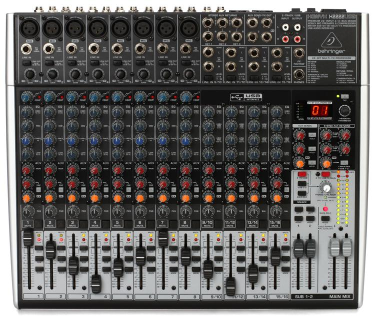 Behringer Xenyx X2222USB Mixer and Audio Interface with Effects image 1