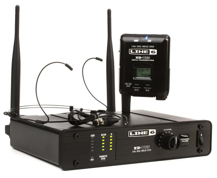 Line 6 XD-V55HS Digital Wireless Headset - Headset Black image 1