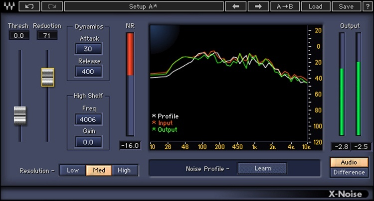Waves X-Noise Plug-in for Academic Institutions - Native image 1