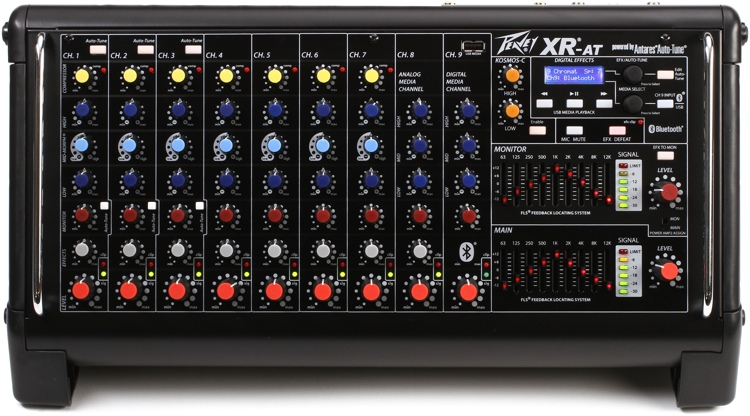 Peavey XR-AT 9-channel 1500W Powered Mixer with Auto-Tune image 1