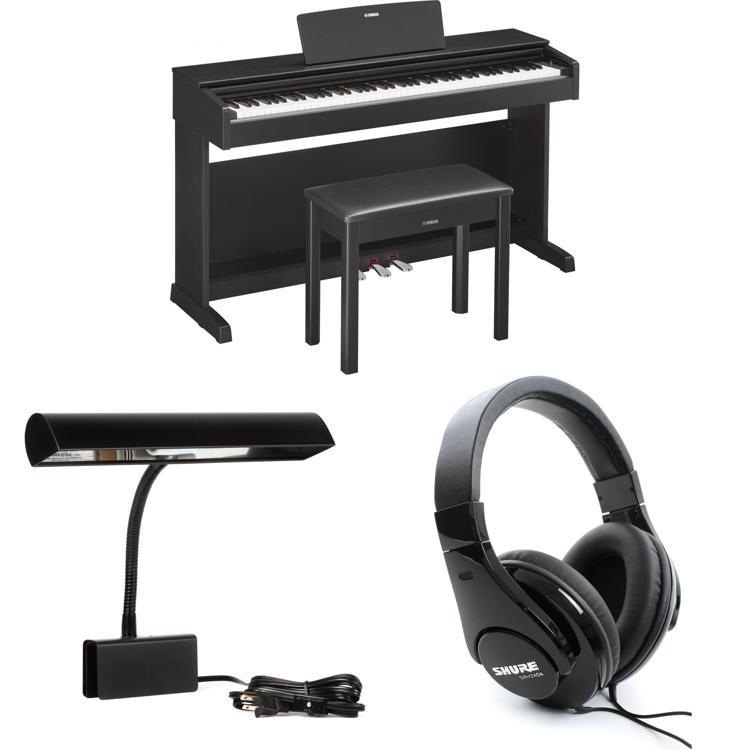 yamaha arius ydp 143b essential piano bundle black. Black Bedroom Furniture Sets. Home Design Ideas