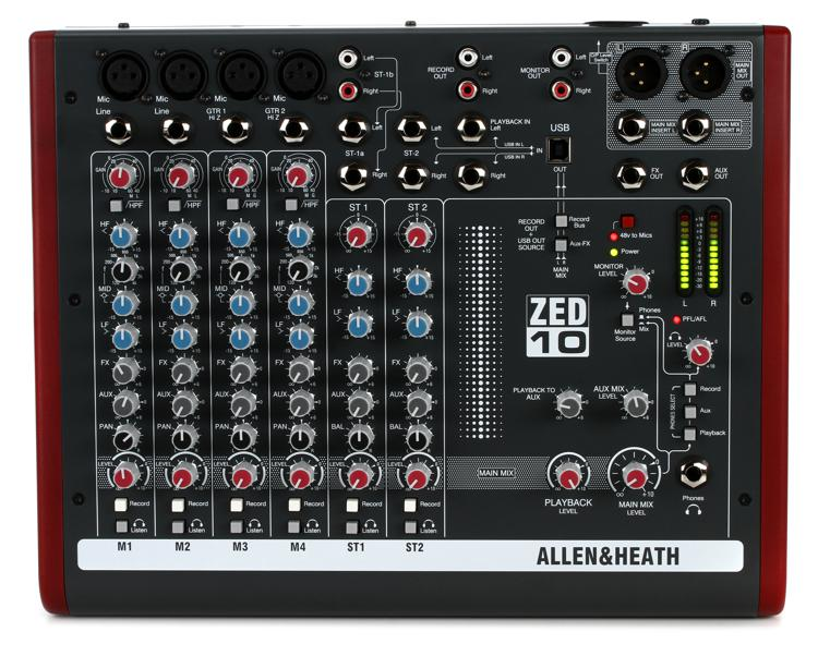Allen & Heath ZED-10 Mixer image 1
