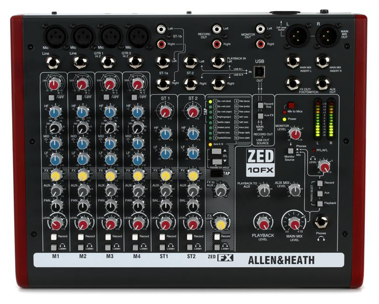 Allen & Heath ZED-10FX Mixer with Effects image 1