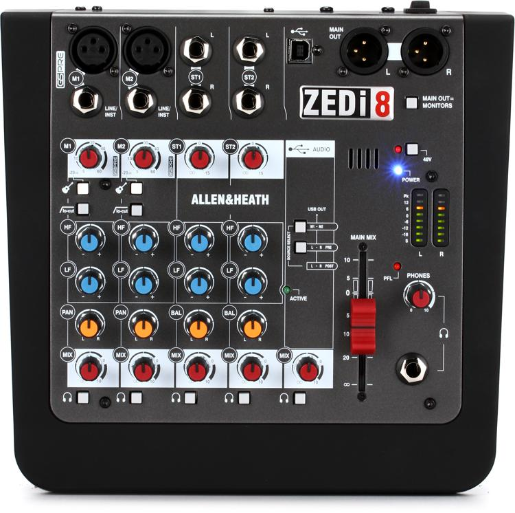 Allen & Heath ZEDi-8 Mixer and USB Audio Interface image 1