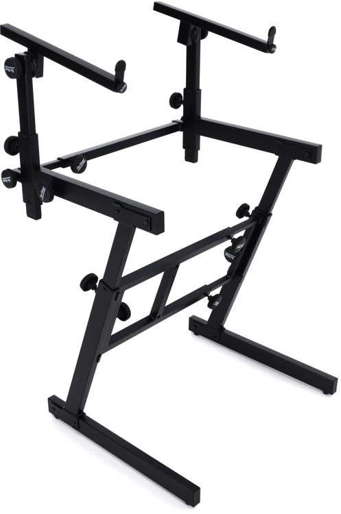 On-Stage Stands KS7365-EJ Pro Heavy-Duty Folding-Z Stand with 2nd Tier image 1