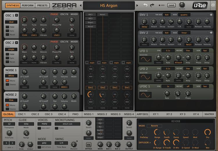 u-he Zebra2 Modular Synthesizer Plug-in image 1