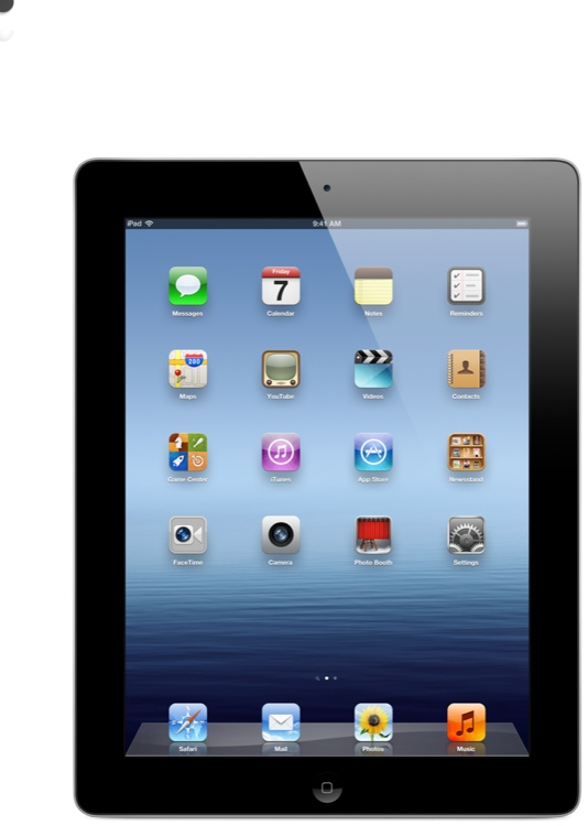 Apple iPad - Wi-Fi, 16GB Black image 1