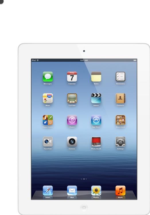 Apple iPad - Wi-Fi, 16GB White image 1