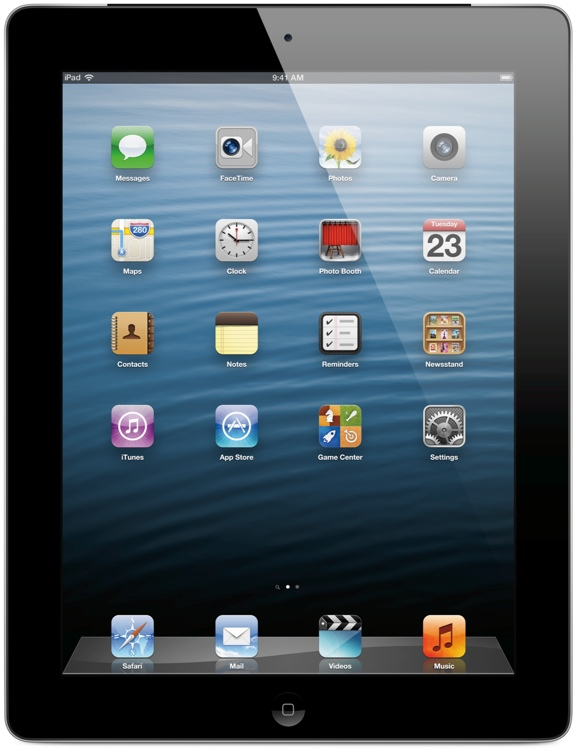 Apple iPad with Retina Display - Wi-Fi + 4G, AT&T, 128GB Black image 1
