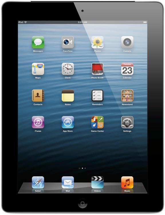 Apple iPad with Retina Display - Wi-Fi + 4G, Sprint, 128GB Black image 1