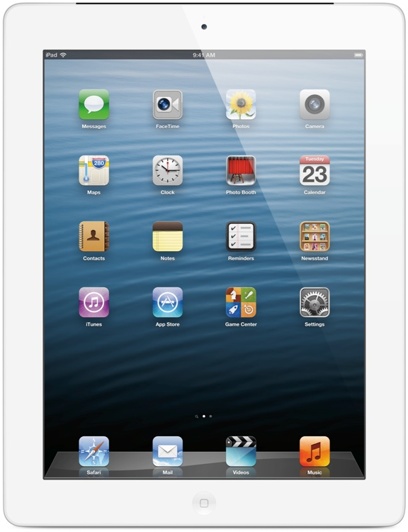 Apple iPad with Retina Display - Wi-Fi + 4G, AT&T, 128GB White image 1