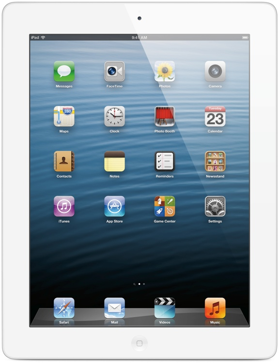 Apple iPad with Retina Display - Wi-Fi + 4G, AT&T, 16GB White image 1