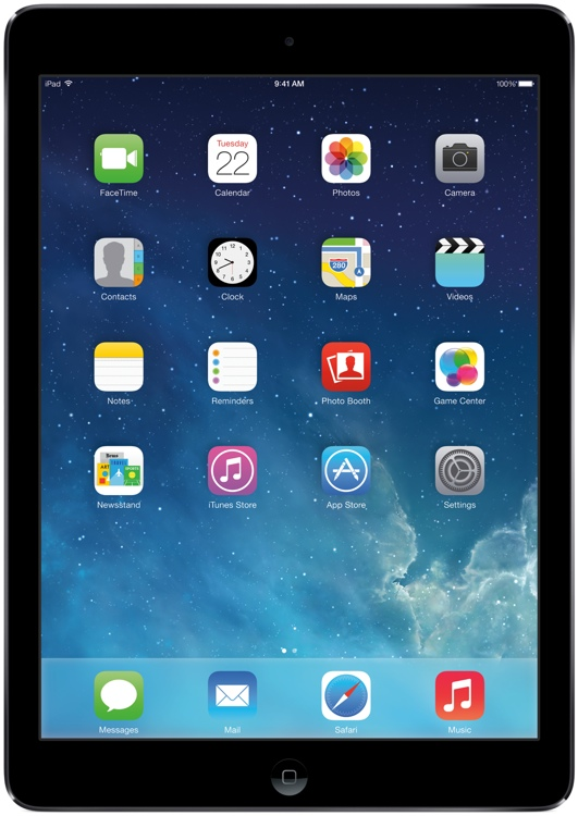 Apple iPad Air AT&T Cellular 64GB - Space Gray image 1