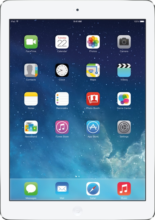Apple iPad Air AT&T Cellular 128GB - Silver image 1