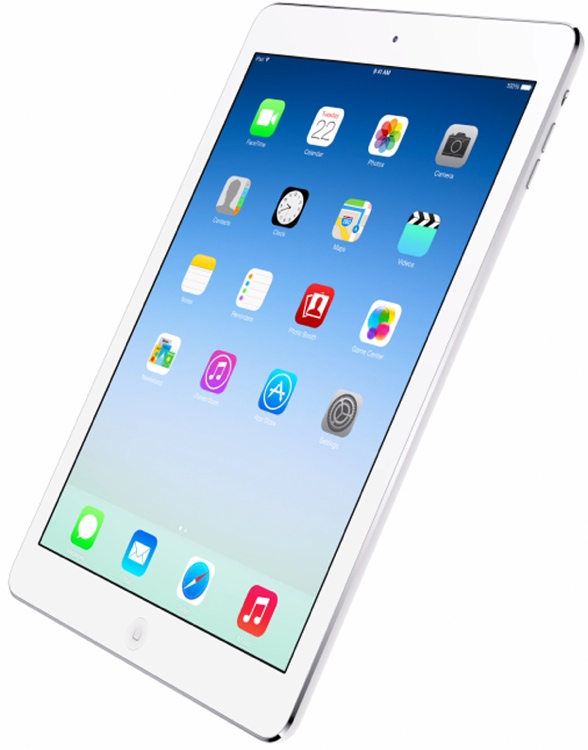 Apple iPad Air Wi-Fi 16GB - Silver, With AppleCare image 1