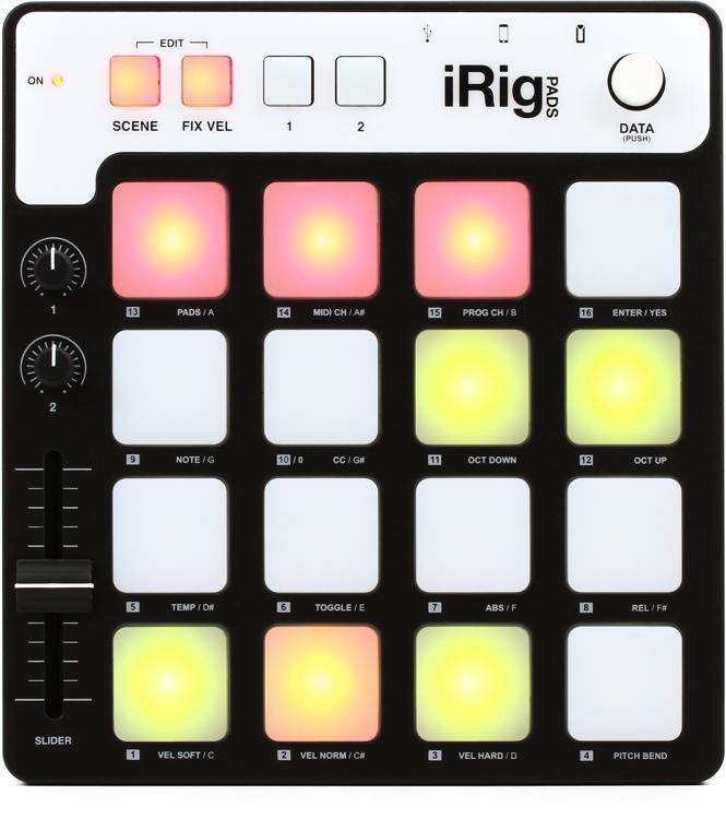 IK Multimedia iRig PADS Portable MIDI Groove Controller image 1