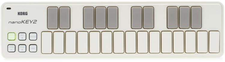 Korg nanoKEY2 Keyboard Controller - White image 1