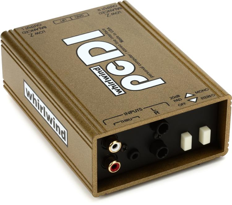 Whirlwind pcDI 2-channel Passive A/V Direct Box image 1