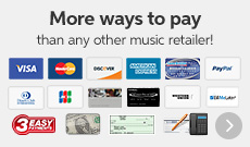 More ways to pay than any other music retailer!