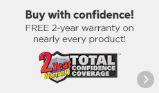 Free 2-year Warranty on Nearly Every Product
