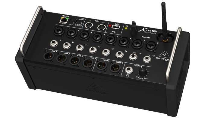 behringer x air xr16 tablet controlled digital mixer sweetwater. Black Bedroom Furniture Sets. Home Design Ideas